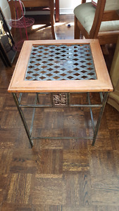 Beautiful vintage wooden and metal table