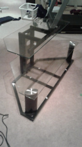 Glass TV stand / table