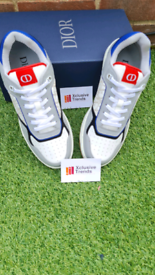 Dior Mens B27 Trainers - Blue/Grey/White UK Size 9