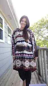Hand crafted Fleece Ponchos