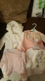 First size and up to one month girls clothes