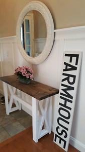 Farmhouse X Sofa Table