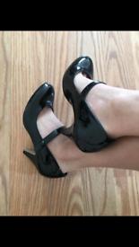 Well worn black heels