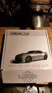 Set of 4 Oracle White Halo Kit LED Car headlights Ring Light West Island Greater Montréal image 1