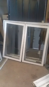 Variety of vinal windows with casing