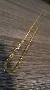 "30"" 3mm 10kt yellow gold Franco link chain"