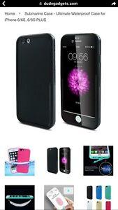 Iphone 6 or 6s case waterproof color black