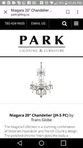 Brand new. In box. Never opened. Beautiful chandelier