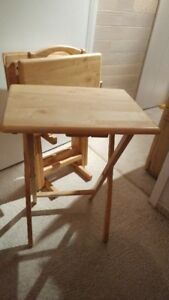 Wooden TV tables - 4 with stand