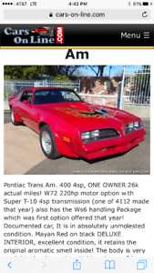 Wanted:Pre 1980 Z-28 camaro s and trans ams