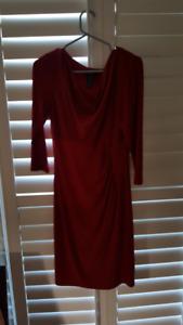 elegant yet simple red dress