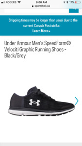 Under Armour running shoes. Retail $129.99