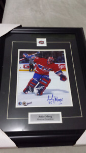 Andy Moog Montreal Canadiens signed framed