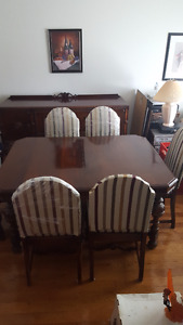 Antique dining room table and sideboard