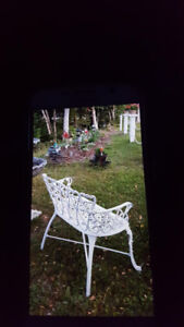 Victorian Syle Cast Iron Lawn/Deck Chair