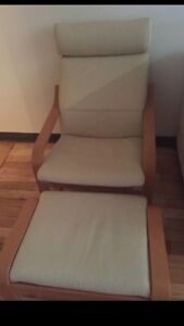 IKEA chair with foot rest