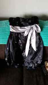 Black and silver dress $30