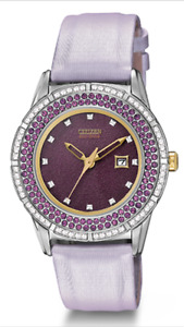CRISP NEW PURPLE CITIZEN ECO-DRIVE WOMENS WATCH FOR SELL.