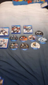 Playstation 4 games for sell 12 of them 120 dollars negotiable