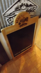 BEAUS BREWERY ALL WOOD CHALKBOARD/VINTAGE RETRO STYLE