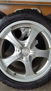 4 SPEEDY RIMS WITH TIANGLE SNOWLION TIRES 225/45/17