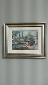 ANNA JALAVA OIL ON CANVAS - PROPERLY MATTED AND FRAMED