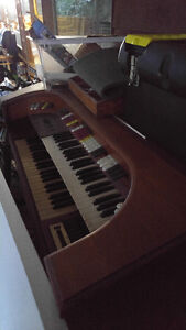 One electric organ with orchestra keyboards