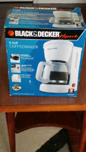 Black and Decker coffee maker.