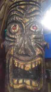 Chainsaw carved Tiki man Kingston Kingston Area image 1