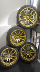 4 mags jantes rims R-SPEC RTX 18po 5x100 et 5x114.3 avec pneus