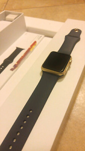 NEW apple i watch 42mm gold 2 extra straps