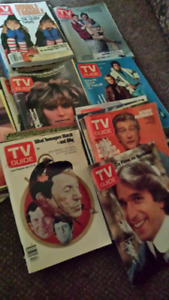 39 VINTAGE ISSUES OF TV GUIDE