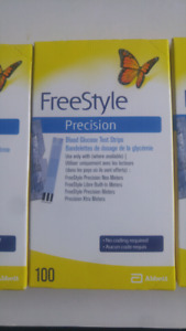 sold out Freestyle Precision glucose test strips 3 boxes of 100