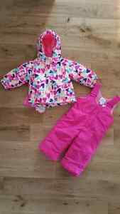 New 3 in 1 Winter Jacket + Snow Pants for baby girl 12-18 months