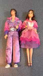 Donny and Marie Osmond collectable barbie dolls