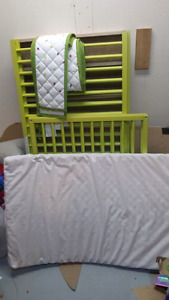 Green ikea crib