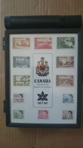 1967 Canada Centennial Commemorative Stamp Box with Mint Stamps