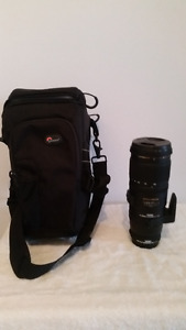 Objectif caméra,filtreprotecteur,multiplicateur,sac lowepro.