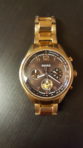 Women's Rose Gold Chronograph Fossil Watch