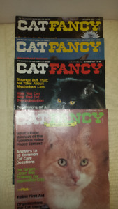 Vintage Cat Fancy Magazines and Coffee Table Cat Books