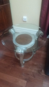 New Price - Glass Top End Tables