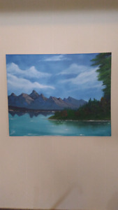 Local artist oil paintings