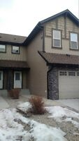 Coopers Crossing, Airdrie - 2 storey townhome, dbl att garage