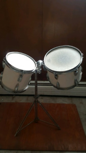 Roto tom drums with stand
