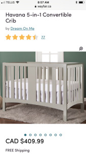 Havana 5-in-1 crib - grey