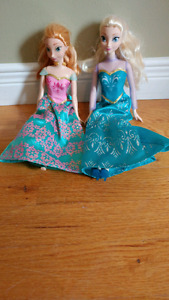 Elsa & Anna barbie dolls