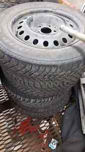 4 used winter rims and tires off a 2012 chrysler 300