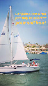 Wanted: We pay to charter/rent your sailboat