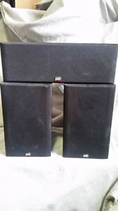 psb pair of amazing alpha  speakers with psb center ch speaeker