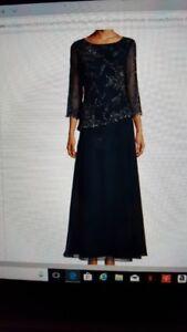 navy blue mother of bride dress